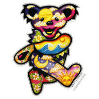 Grateful Dead - Jumbo Day/Night Dancing Bear Bumper Sticker on Sale for $6.99 at The Hippie Shop