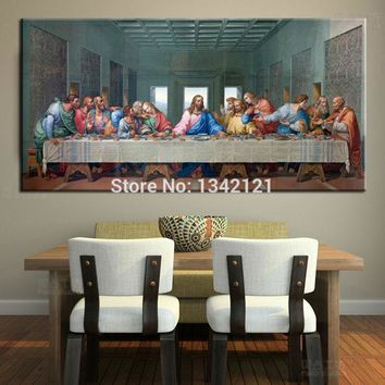 Large Classic Oil Painting Picture Famous Painting The Last Supper Leonardo Da Vinci Oil Painting On Canvas For Living Rooom