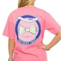 Southern Shirt Company Bowtie SS T-Shirt in Lilly Pink