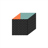 "Brickcube I Graphic Print I Digital Art I 20cm x 20cm (7.87"" x 7.87"")"