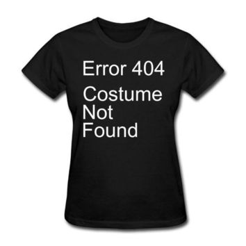 MDIG4F Woman Error 404 Costume Not Found Political short sleeve T Shirt awesome Black