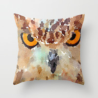 Owl Throw Pillow by Contemporary