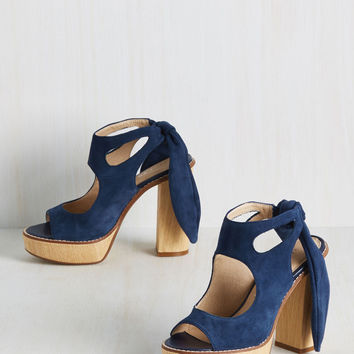 My Bold Stomping Grounds Heel in Navy | Mod Retro Vintage Heels | ModCloth.com
