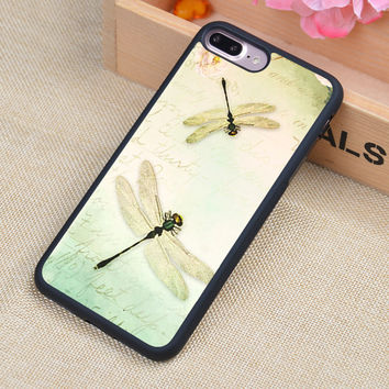 Dragonfly Printed Soft Rubber Mobile Phone Cases Accessories For iPhone 6 6S Plus 7 7 Plus 5 5S 5C SE 4 4S Cover Shell