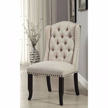 Sania I Rustic Side Chair, Antique Black Finish, Set Of 2