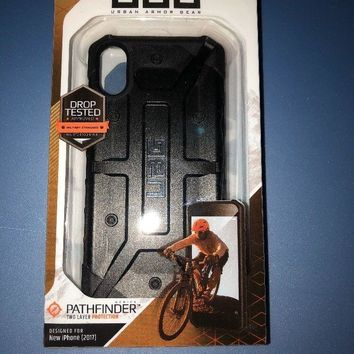 UAG iPhone X Pathfinder Feather Light Rugged [BLACK] Military Drop Tested Case