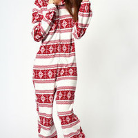 Holly Fairisle Design Super Soft Hooded Onesuit
