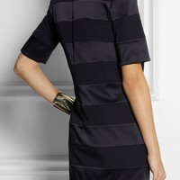 Victoria, Victoria Beckham | Paneled crepe and satin dress | NET-A-PORTER.COM