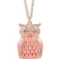 long necklace with colored owl - 1000045781 - debshops.com