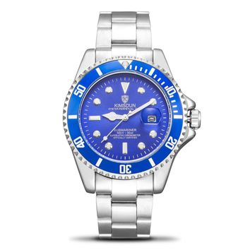 Switzerland automatic Mechanical watches Rolexable models blue water ghost watch men's fashion steel belt luminous Sports