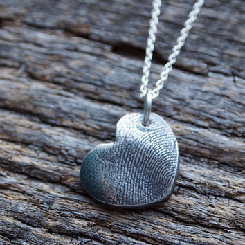 Custom Fingerprint Personalized Pendant Pure Recycled by hfgifts