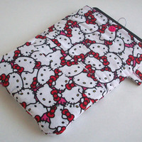 "Hello Kitty Kindle Case / Hot Pink / 7"" Tablet / Nook Cover / iPad Case / 10"" Tablet Cover / i Pad Sleeve / Hello Kitty iPad Accessories"