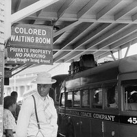 Segregated Bus Stop Durham North Carolina 1940 Art Print