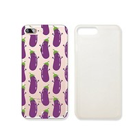 Eggplant Vegetables Pattern Slim Iphone 7PLUS Case, Clear Iphone 7PLUS Hard Cover Case For Apple Iphone 7PLUS -Emerishop (iphone 7 plus)