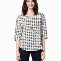 Alexa Houndstooth Pullover | Fashion Apparel | charming charlie