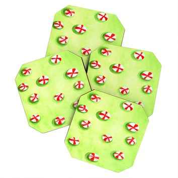 Rosie Brown Christmas Candy Coaster Set