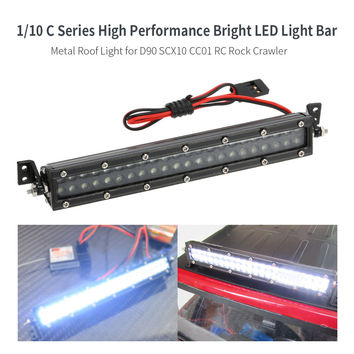 110 C Series Bright LED Light Bar Metal Roof Light Lamp for 110 HSP RC4WD Axial D90 SCX10 Traxxas TAMIYA CC01 RC Rock Crawler SM6
