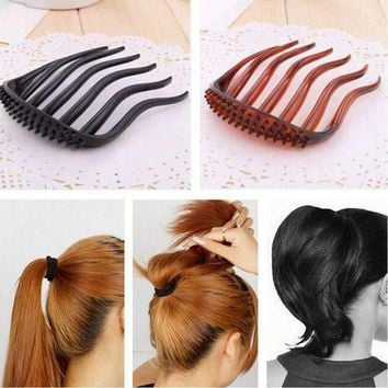LMFONRZ YouMap Useful Volume Inserts Hair Clip Bumpits Bouffant Ponytail Hair Comb Bun Maker Accessories for Women A7R33C