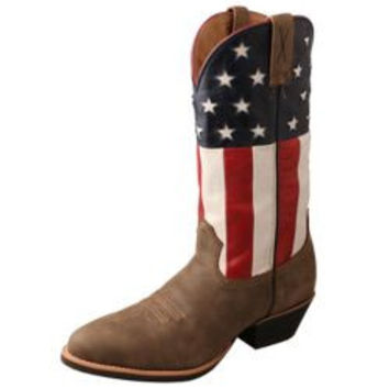 Twisted X Mens VFW USA Western Boot