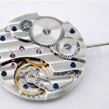 Watch movement 17 Jewels Swan Neck 6497 Hand winding Movement fit Parnis mens watch P18
