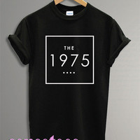 the 1975 shirt the 1975 band logo shirt tshirt t-shirt tee shirt printed black and white color unisex size