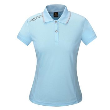 Summer Ladies Anti-uv Quick Dry Polo Shirt Outdoor Hiking T-shirt Fishing Sport Climbing Running T Shirt Women Camping Camiseta