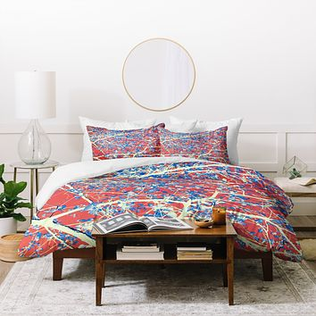 Belle13 Spring Abstract Duvet Cover