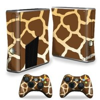 Mightyskins Protective Vinyl Skin Decal Cover for Microsoft Xbox 360 S Slim + 2 Controller skins wrap sticker skins Giraffe
