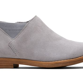 TOMS - Youth Leilani Drizzle Grey Suede Boots