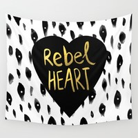 Rebel Heart Wall Tapestry by Sandra Arduini | Society6