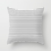 Minimal Stripes Throw Pillow by Allyson Johnson