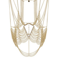 Gold BCBG Cutout Body Chain