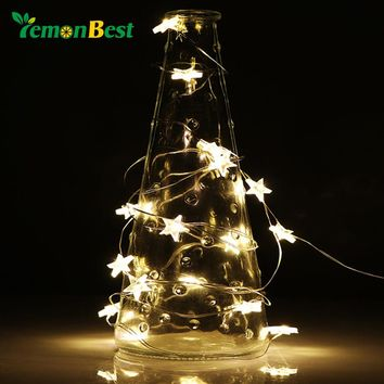 LED Star/Flow Copper Wire String Lights LED Battery Operated
