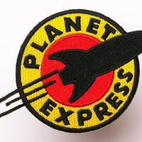 "FUTURAMA Planet Express Iron Sew On Embroidered Patch Badge Costume Fancy DressApprox:4.4""/10.5cm x Approx: 3""/7.5cm By MNC Shop"