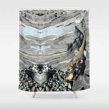 Heartstone Shower Curtain by anipani