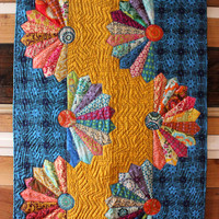 Fannie Lou - Modern Traditional - Baby Quilt - Machine pieced and quilted