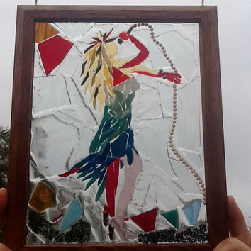 Stained Glass Tina turner Window Art Sun Catcher, unique Gift idea, Birthday, Music, Tiny dancer, Legs