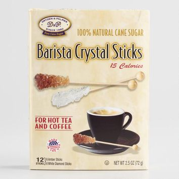 Barista Cane Sugar Crystal Sticks 12 Count