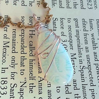 opalite necklace - october birthstone - Pink Necklace  - Blue Crystal - Crystal Jewelry - opalite jewelry - tear drop necklace - Wiccan