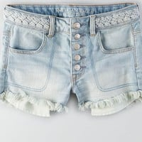 AEO Women's Hi-rise Shortie (Light Wash)