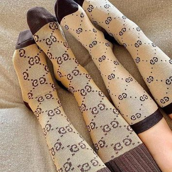 GUCCI popular women casual GG pattern socks stockings