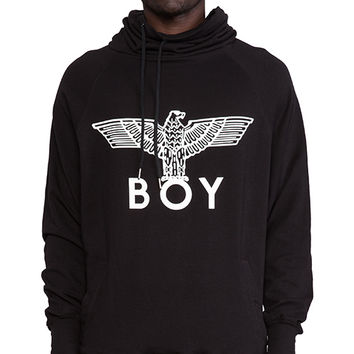 BOY London Turtle Neck Batwing Sweatshirt in Black