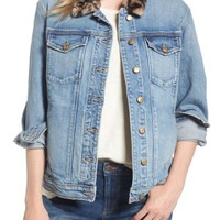 Joe's Denim Jacket with Faux Fur Collar | Nordstrom