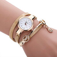 Wrist Quartz Women Watch Leather Strap Band