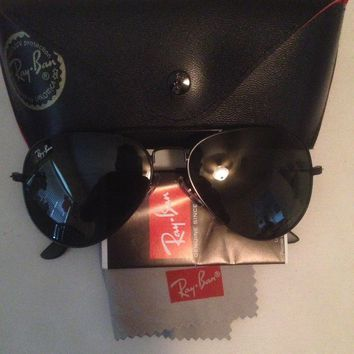Ray Ban Aviator Sunglasses Black