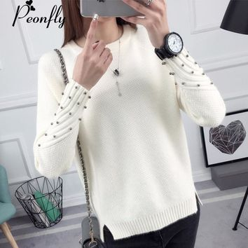 PEONFLY Thick Warm Winter Sweater Women 2018 Knitted Pullover Female Jumper Tricot Pullover Women Winter Tops Pull Femme