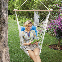 Tufted Single-Person Swinging Hammock Chair