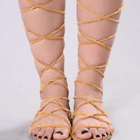 Wrap Me In Sandal - Mustard