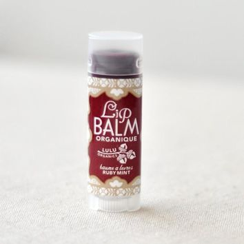 Lulu Organics Ruby Mint Lip Balm