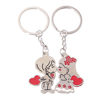 New Arrival Great Deal Gift Functional Trendy Hot Sale Creative Metal Couple Princess Boy Keychain [11496560975]